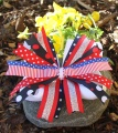 American Holiday Red White and Blue Pinwheel Hair Bow