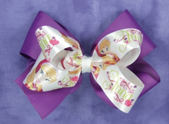 Anna Frozen Hair Bow for Girl's