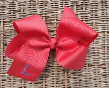 Big Red Grosgrain Hair Bow