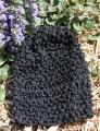 Black Infant Waffle Crochet Beanie Hat