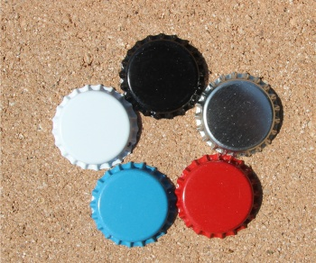 Colored Bottle Caps for Hair Bows or Necklackes