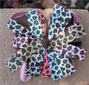 Cheetah Print Rainbow Pinwheel Hair Bow