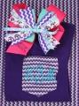 Chevron Purple Monogrammmed Bow and Matching Tee Shirt