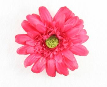 Shocking Pink Silk Gerbera Daisy Hair Clip