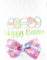 Embroidered Easter Eggs Hand Towel and Personalized Bow