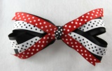101 Red White Black Polka Dots Hair Bow