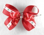 Red Merry Christmas Hair Bow