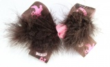 Brown Feather Cowgirl Hair Bow