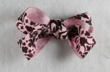 Pink and Chocolate Brown Hair Bow