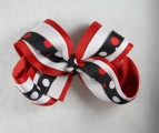 Red White and Blue Polka Dots Hair Bow