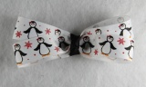 Dancing Penguins Hair Bow