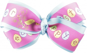 Happy Easter Turquoise Hair Bow