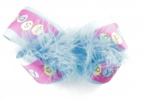 Happy Easter Feather Turquoise Hair Bow