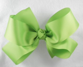 Big Lime Green Grosgrain Hair Bow
