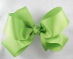 Big Lime Green Grosgrain Hair Bow