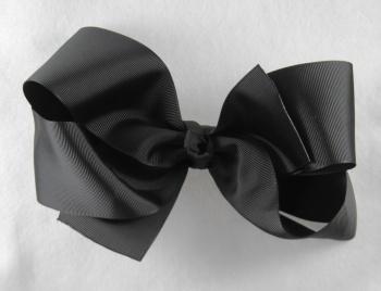 Big Black Grosgrain Ribbon Hair Bow