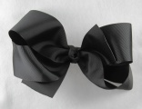 Big Black Grosgrain Ribbon Hair Bow