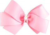 Pink with Pink and Lime Polka Dot Hair Bow