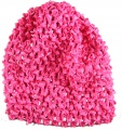 Hot Pink Infant Waffle Crochet Beanie Hat