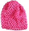 Hot Pink Infant Waffle Crochet Beanie Hat