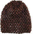 Dark Brown Infant Waffle Crochet Beanie Hat