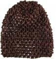 Dark Brown Infant Waffle Crochet Beanie Hat