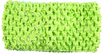 Lime Green Crochet Headband 2.75