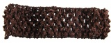 Dark Brown Crochet Headband