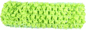 Lime Green Crochet Headband 1.5