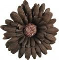 Brown Velvet Gerbera Daisy Clip
