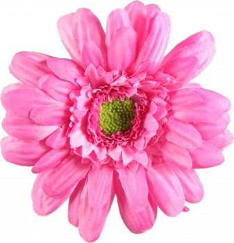 Hot Pink Silk Gerbera Daisy Hair Bow Headband Accessory