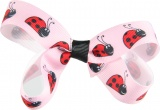 Ladybug Pink Red and Black Hair Bow