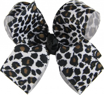 Snow Leopard Boutique Hair Bow
