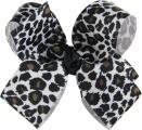 Snow Leopard Boutique Hair Bow