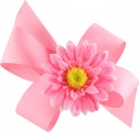 Pink Boutique Bow with Pink Daisy
