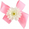Pink Boutique Bow with White Daisy