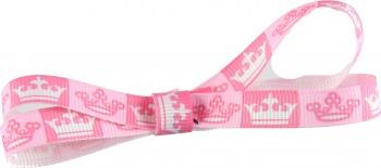 Pink Princess Crown Bow