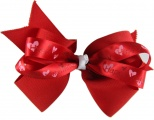 Double Layer Valentine Red Boutique Bow