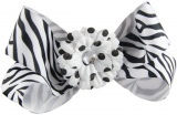 Zebra Polka Dot Daisy Boutique Bow