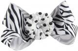 Zebra Polka Dot Daisy Boutique Bow