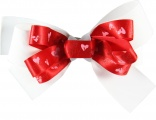 Double Layer Valentine White Boutique Bow