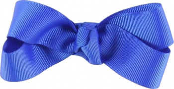 Blue Grosgrain Boutique Bow