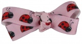 Ladybugs on Pink Hair Bow