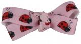 Ladybugs on Pink Hair Bow