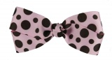 Chocolate Brown and Pink Polka Dot Bow