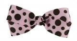 Chocolate Brown and Pink Polka Dot Bow
