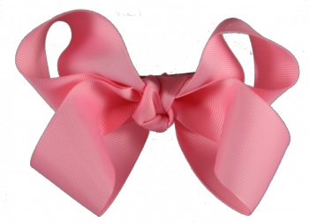 Large Pink Grosgrain Bow