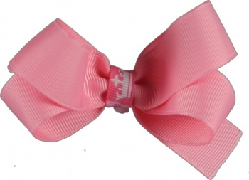 Pink with Princess Crown Hair Bow