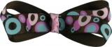 Brown and Pink Polka Dot Bow