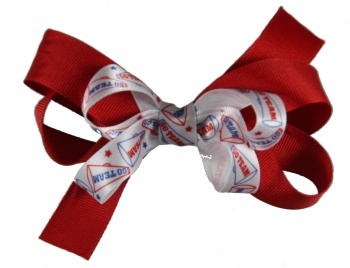 Large Red Cheer Hair Bow